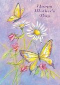 Mother's Day Card-Daisies And Butterflies Card